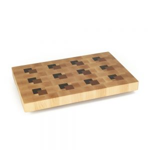 cutting-board-seventeen-by-eleven-inches-maple-end-grain-with-twelve-blocks-in-walnut-cherry